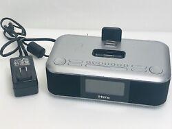 IHome IPad,IPhone Charger FM Stereo Alarm Clock Model iD99