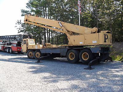 30 Ton Ph Hydraulic Crane 1974 90 Main Fly Jib 130 Total Runs Good