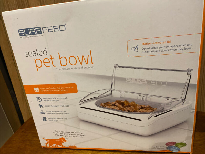 SureFeed Sealed Pet Bowl Automatic Dog Cat Feeder Motion Activated