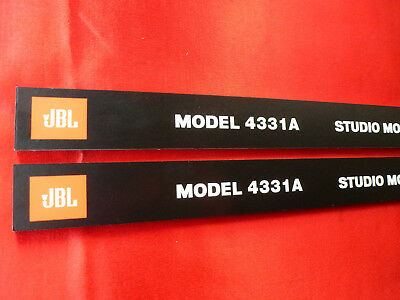 Pair JBL 4331a Front panel  Labels ( grill logo 2Pcs ) 4331a with 3 pin fixture