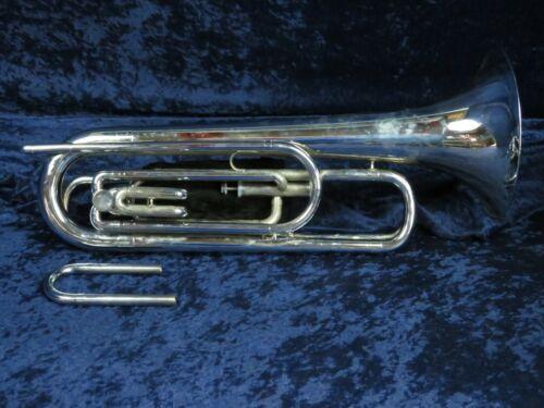 Ludwig Classic Silver 2 Valve Baritone Bugle Ser#384521 w/Straight Tuning Slide