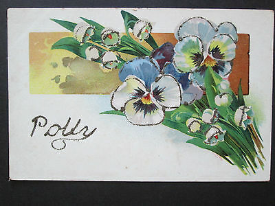 WW1 ERA NAME POSTCARD - Polly
