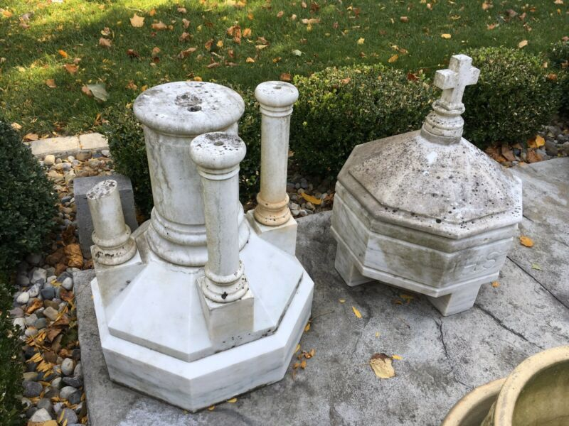 ANTIQUE MARBLE BAPTISMAL FONT RESTORATION PROJECT CHURCH RELIGIOUS IHS