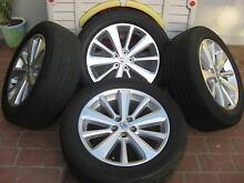 "TOYOTA KLUGER SERIES   ALLOY WHEELS & TYRES 19"" (SET OF 4) AS NEW Liverpool Liverpool Area Preview"