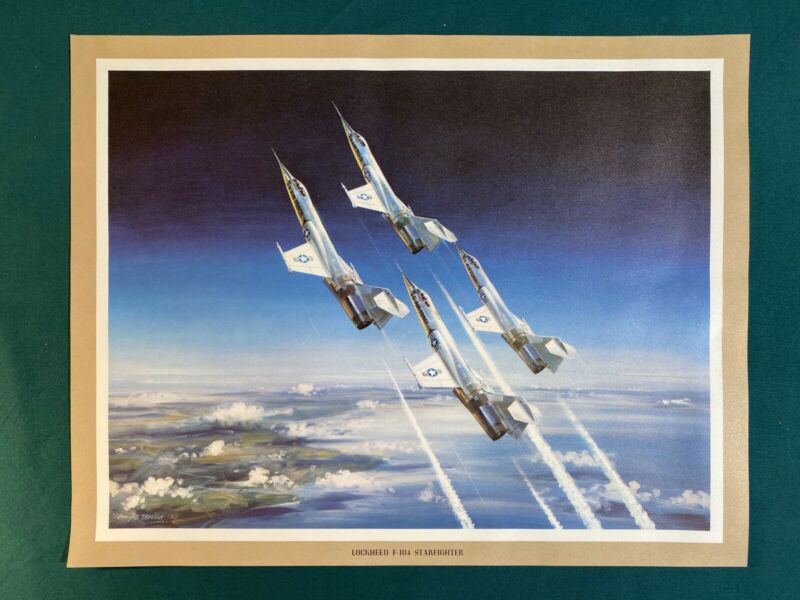 Lockheed Martin F-104 Starfighter USAF Group 11x14 Print