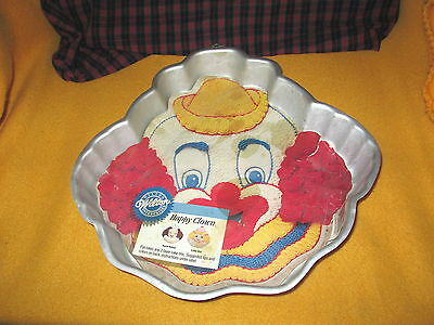 "Vintage 1989 WILTON ""HAPPY CLOWN"" Cake Pan #2105-802 New"