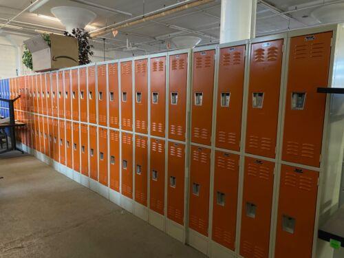 "Half Lockers by Superior Lockers in Orange Each Opening - 12""Wx15""Dx36""H"