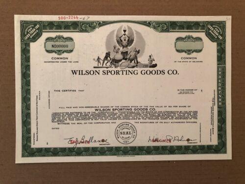 WILSON SPORTING GOODS CO. SPECIMEN STOCK CERTIFICATE 1967 SCARCE MULTI SPORTS