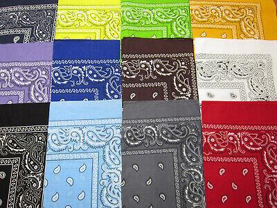 Bandana New 100% Cotton Paisley Print Bandanna Scarf Handkerchief