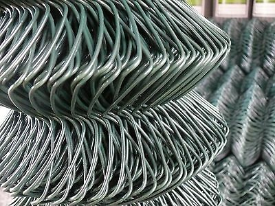 4 FT - PVC Chain Link Fencing 25mtr (1200mm) c/w Straining Wires - 2 Rolls