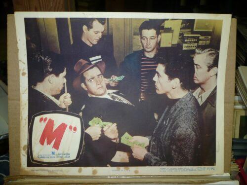 """M"",  orig 1951 LC #4 [Raymond Burr as Pottsy] - FILM NOIR"