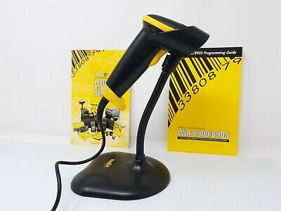 Wasp Wlr8905 Usb Barcode Scanner With Stand And Manuals