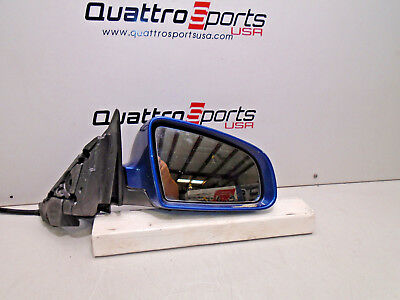 AUDI A3 2006 08 RIGHT SIDE REAR VIEW COMPLETE MIRROR MAURITIUS BLUE 8P1858532K
