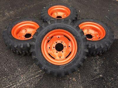 4 New Camso 10-16.5 Skid Steer Tireswheelsrims -fits Bobcat 642643-10x16.5