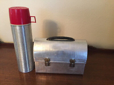 Rare Vintage Aluminum Lunch Box and Thermos (Aluminum Lunch Box)