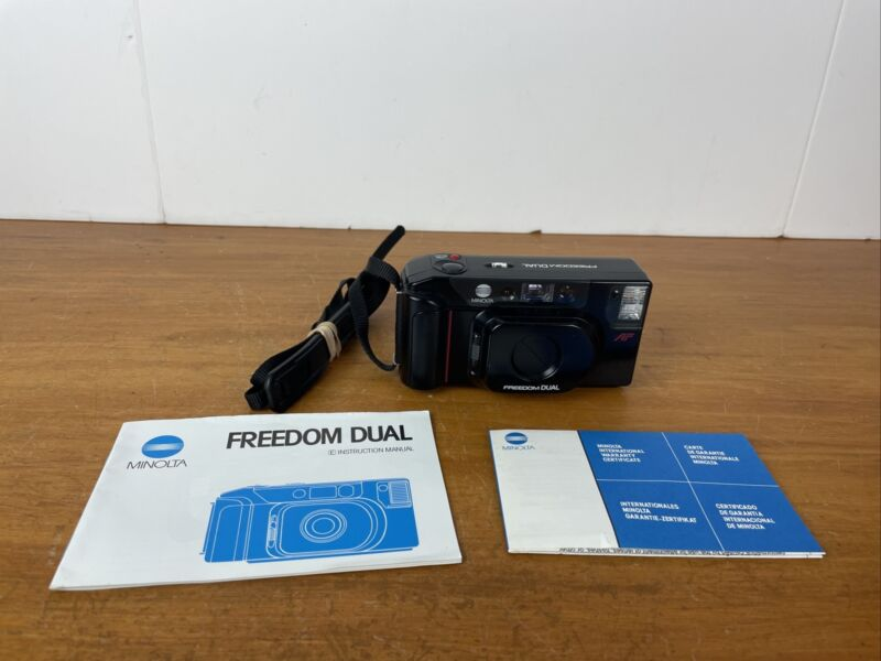 Minolta Freedom DUAL 35mm Point & Shoot Film Camera With Manual