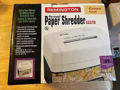Remington Personal Paper Shredder Cross Cut
