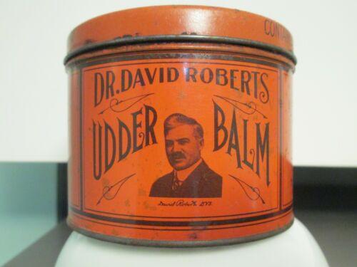UDDER BALM DR. DAVID ROBERTS ANTIQUE ADVERTISING  TIN