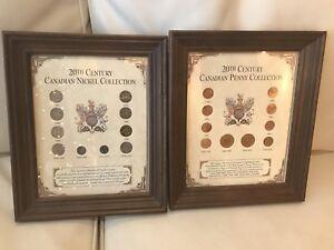 Coin collection frames x 2
