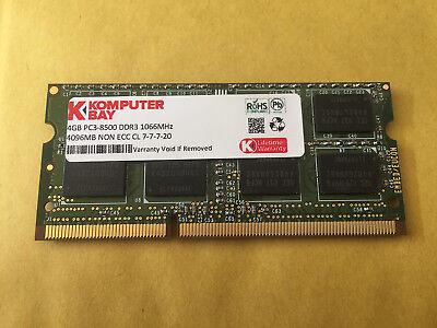 4GB DDR3 1066 Mhz / 1067 Mhz f Apple MacBook Pro iMac mac mini PC3-8500S SO DIMM