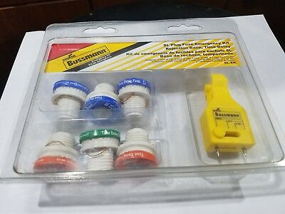 Sl Plug Fuse (Cooper Bussmann SL Plug Fuse Emergency Kit, Rejection Base, Time-Delay,15,20,30A)