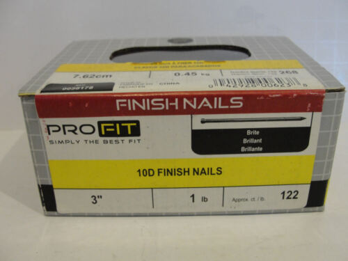 National Nail 0058178 Brite 10D Finish Nails, 3""