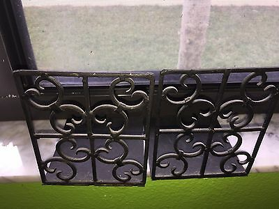 Wrought Iron Bookends - Scrollwork