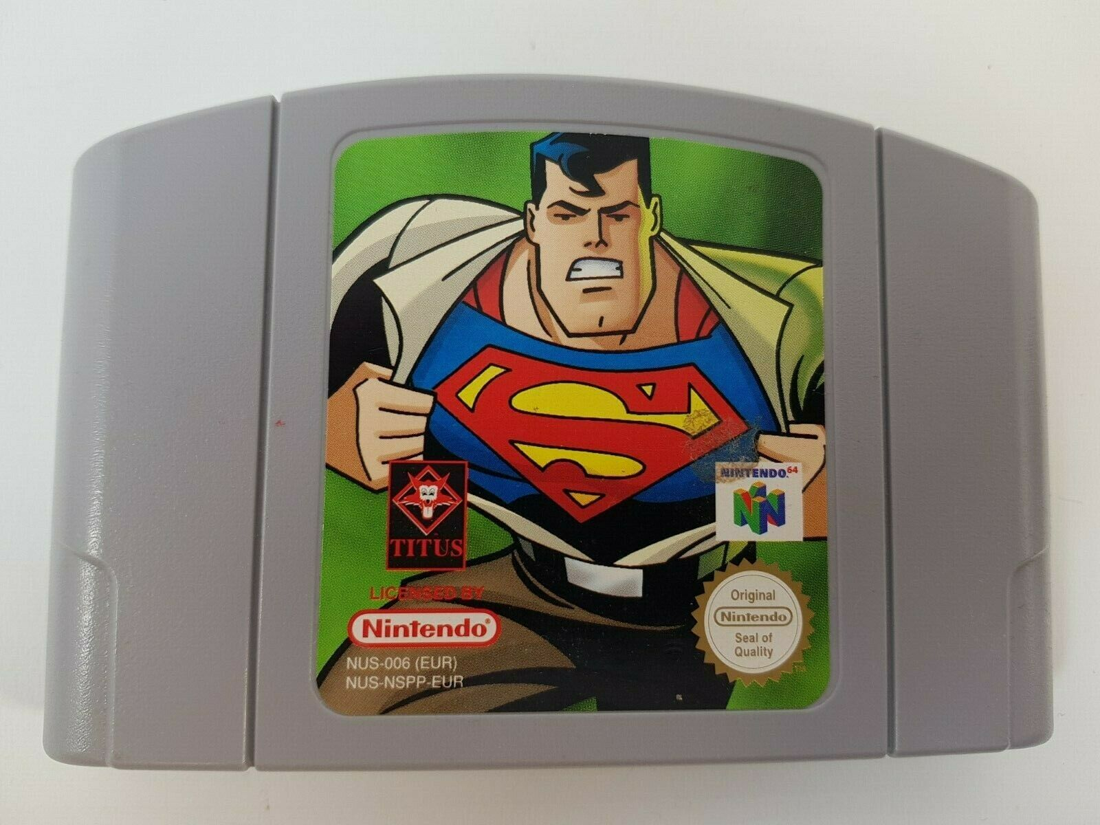 Computer Games - Superman N64 Nintendo 64 Computer Game Cartridge Loose