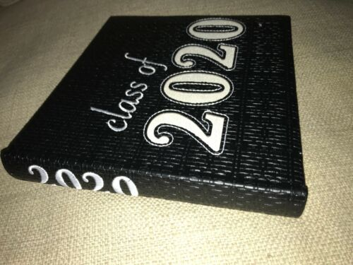 """New! BLACK """"Class of 2020"""" PHOTO ALBUM  (Holds 100 4"""" X 6"""" Pictures)"""