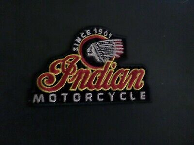Vintage Indian motorcycle iron on patch embroidered collectible 2-3/4 x 4