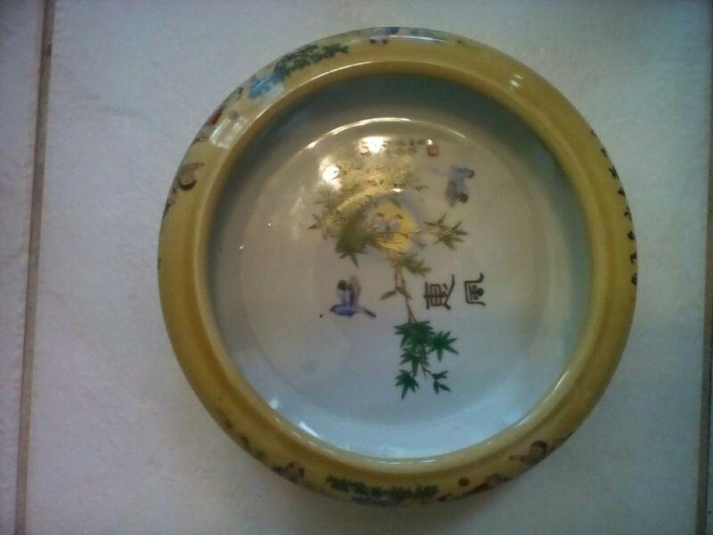 Antique transferware Chinese export bowl