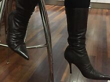 Size 40 real leather boots, zip up Alderley Brisbane North West Preview
