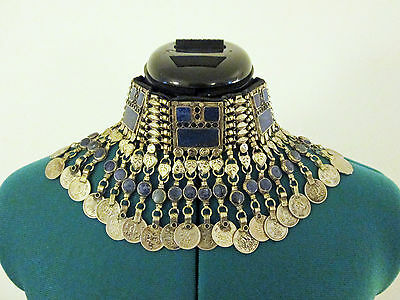 Vintage KUCHI banjara coin CHOKER Necklace Kutch gypsy ethnic TRIBAL belly dance