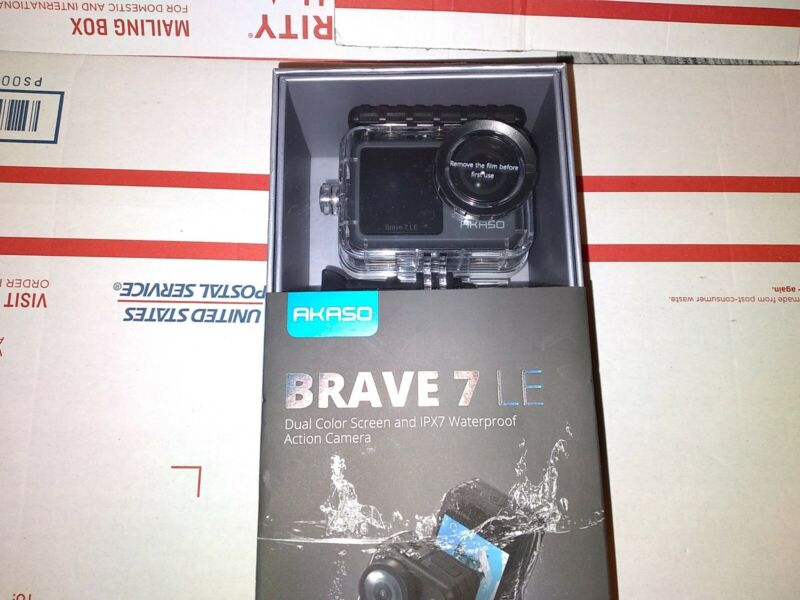 New Akaso Brave 7 LE 20MP WiFi Action Camera w/ Touch Screen Vlog Camera EIS 2.0