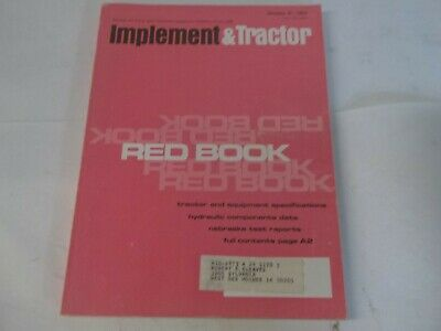 1976 Red Book Implement Tractor Backhoes Combines Corn Shellers Elevators