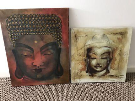 2 buddha canvas