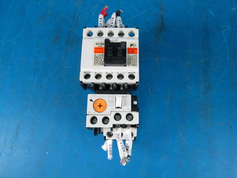 Fuji Electric FA SC-05 SC14AA Magnetic Contactor W/ TR0N/3 TR13D Overload Relay