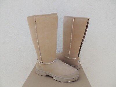 UGG SAND ULTIMATE TALL BRAID SUEDE/ SHEEPSKIN BOOTS, WOMEN US 7/ EUR 38 ~NIB for sale  Ventura