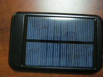 10000mAh Solar Lightweight USB External Battery Charger Power Bank Cell Phone Black