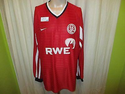 Rot-Weiss Essen Nike Langarm Spieler Version Trikot 2000/01