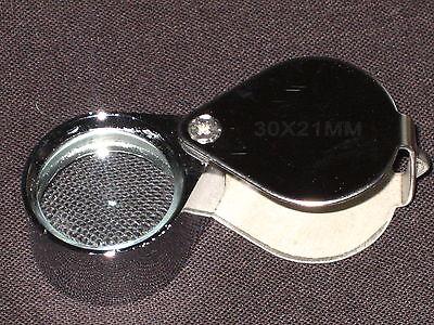 Juwelier Lupe 30 Fach Schmuck Vergrösserungslupe 30 x 21mm in silber NEU