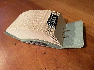 Vintage Metal Zephyr American Rolodex V File Jr Model V524-j With Cards