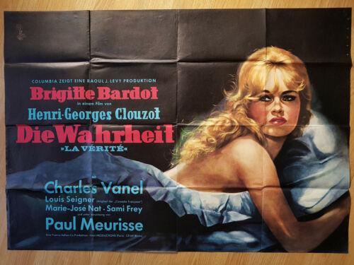 BRIGITTE BARDOT rare German 2 sheet poster THE TRUTH 1960 HENRI-GEORGES CLOUZOT