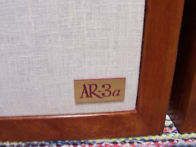 ACOUSTIC RESEACH SPEAKER, AR-3a NEW REPLACEMENT  LOGO PLATES - PAIR