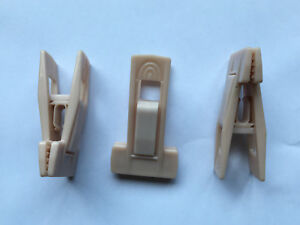20 Pale Pink Plastic Clips for Grip to me hangers Trouser or Skirt