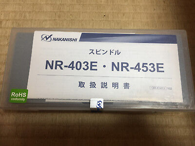 Nib Nakanishi Nsk Air-speed Nr-453e Live Spindle Nr453e New Use With Am-3020r