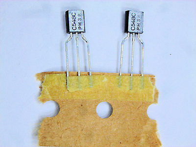 Bc548c Original Philips Transistor 2 Pcs