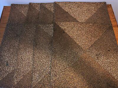 Lot Of 8 Kim Seybert Metal Bead Square Placemat Silver/Gold, 48″L X 18.5″W