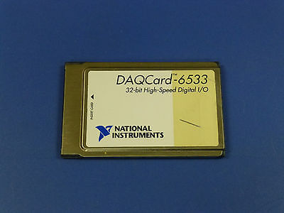 National Instruments Daqcard-6533 Pcmcia Ni Daq Card Digitial Io
