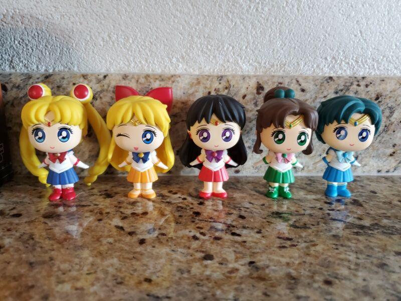 Lot 6 pcs Sailor Moon Anime Mars Jupiter Chibi Pluto Action figures Loose Gift